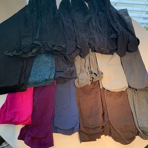 Accessories - 18 pairs of tights hose nylons assorted colors